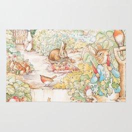 The World of Beatrix Potter illustration Rug