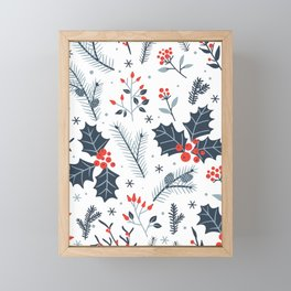 Winter flora Framed Mini Art Print
