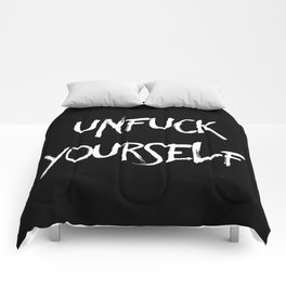 Unfuck yourself (inverse edition) Comforters