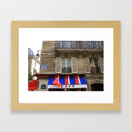 Red Balloons at Café Bonaparte Framed Art Print