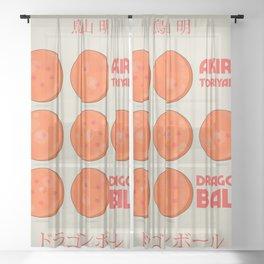 Dragon Ball, A. Toriyama manga, alternative movie poster, cult anime, Japanese wall art. Sheer Curtain