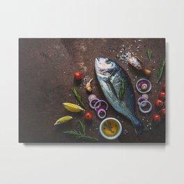 Food Fish Still Life Seafo Metal Print