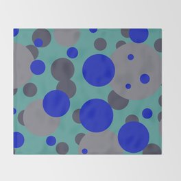 bubbles blue grey turquoise design Throw Blanket