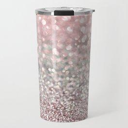 Girly Pink Snowfall Travel Mug