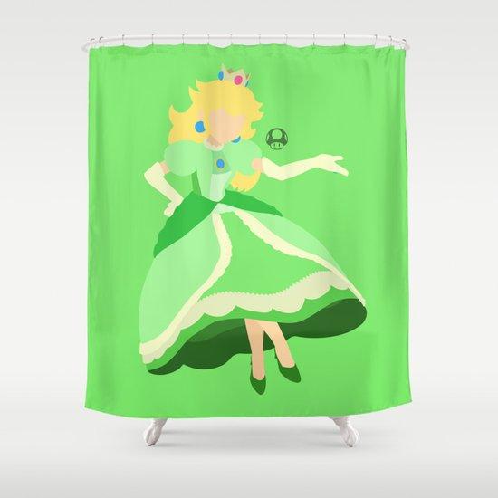 Princess Peach(Smash)Green Shower Curtain
