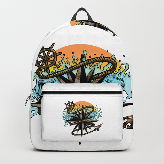 Nautical Splash Backpack
