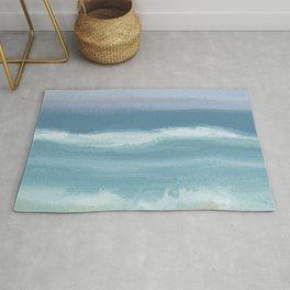 Seashore With Beautiful Breaking Waves Rug