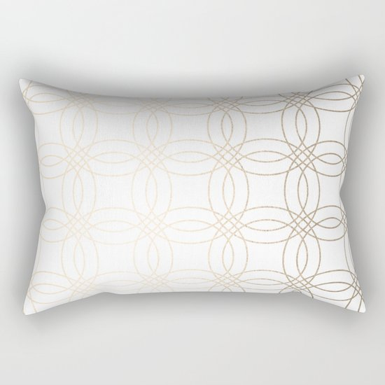 Simply Vintage Link in White Gold Sands on White Rectangular Pillow