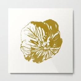 Minimal Yellow Metal Print