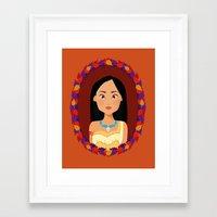 pocahontas Framed Art Prints featuring Pocahontas by Joey Ellson