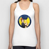 feminism Tank Tops featuring Whovian feminism by ElinJ