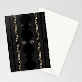 Southwestern Black Diamond Stripe Patterns Stationery Cards