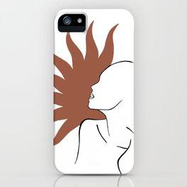 Sun face art print iPhone Case