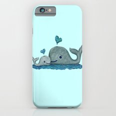 Whale Mom and Baby with Hearts Slim Case iPhone 6s