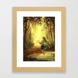 Touhou-Sanae Framed Art Print