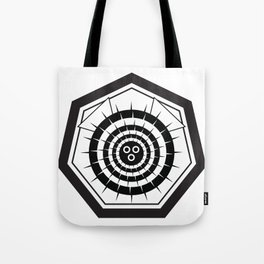 Fugu Japanese Crest (Black) Tote Bag