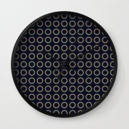 Pattern Formes Spirales Bleu/Doré Wall Clock