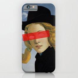 Das Mädchen mit dem Hut iPhone Case