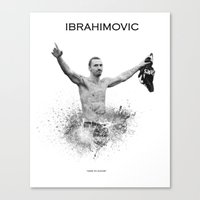 zlatan Canvas Prints featuring Zlatan Ibrahimovic by Sjors van den Hout
