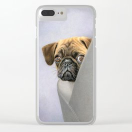 """Oh, You're Home..."" Clear iPhone Case"
