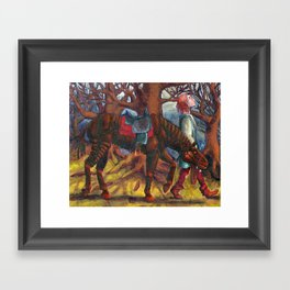 The Golden City: Elabel Framed Art Print