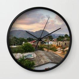 Village in Vinales Wall Clock