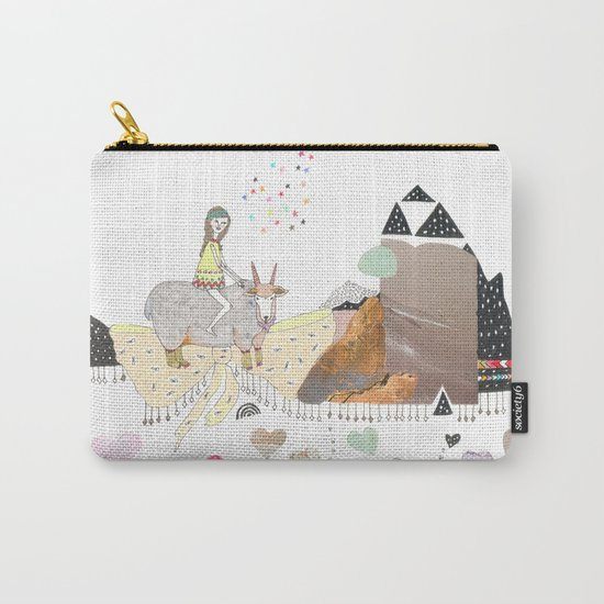 Hermit Crab vs. Snail Carry-All Pouch