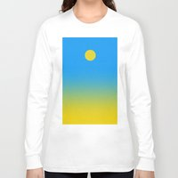 blankets Long Sleeve T-shirts featuring Noon by Roxana Jordan