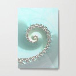 Fractal Ocean Wave Metal Print