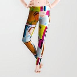 JANE AUSTEN - ENGLISH NOVELIST - COLOURFUL POP ART STYLE ILLUST Leggings