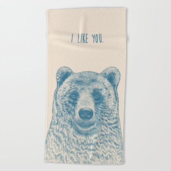 Bear (Ivory) Beach Towel