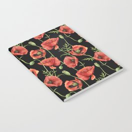 Poppy: lady in red Notebook