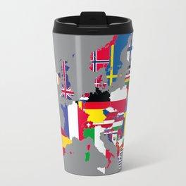 Europe flags grey Travel Mug
