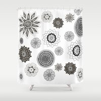 flower pattern Shower Curtains featuring Flower pattern by Noah's ART