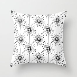 Dandelions floral pattern Throw Pillow