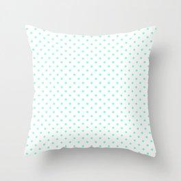 Dots (Aquamarine/White) Throw Pillow