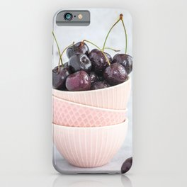 Cherry bowl l Food photography artfood photography iPhone Case