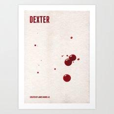 Dexter Minimalist Poster Art Print