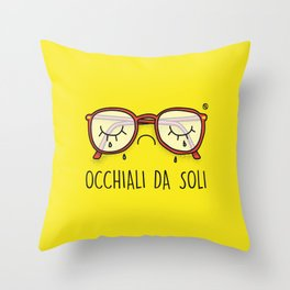Occhiali da Soli Throw Pillow