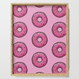Pink Donut Sprinkles Serving Tray