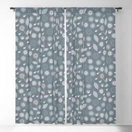 Blooming (Aqua) Blackout Curtain