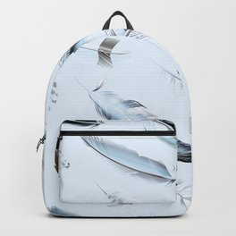 Cosmic Feathers Blue Dust Backpack
