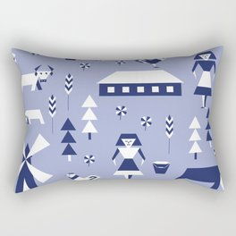 Farm. Seamless pattern. Rectangular Pillow