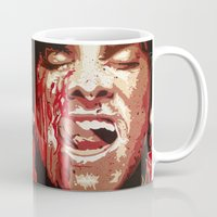 psycho Mugs featuring Psycho by Earl of Grey