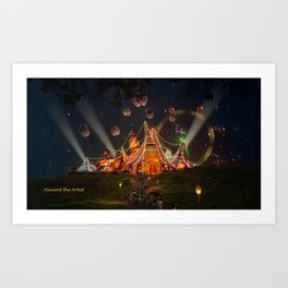Circus from Vincent the Artist Art Print