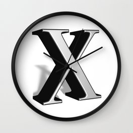 X letter in 3D Wall Clock
