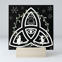 Celtic Knot, Evil Eye, and Cats Mini Art Print