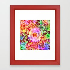 Painted Picturesque Flower Framed Art Print