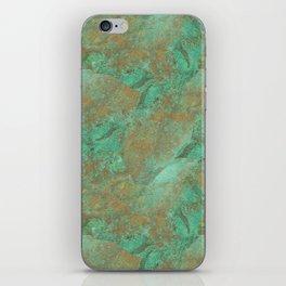 Verdigris Patched Texture iPhone Skin