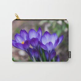 Purple Crocus Blooms Carry-All Pouch